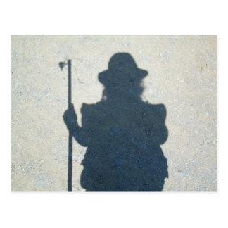 Carte postale de l'ombre du pèlerin