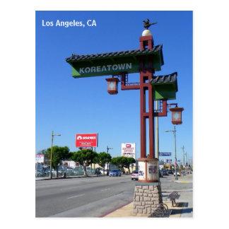 Carte postale de Los Angeles Koreatown !