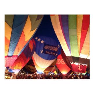 Carte postale de lueur de ballon