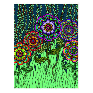 Carte postale de lueur de jardin