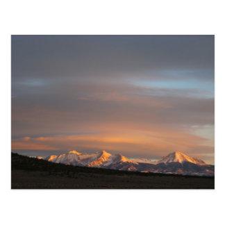 Carte postale de lumière de matin de Mt. Lindsey