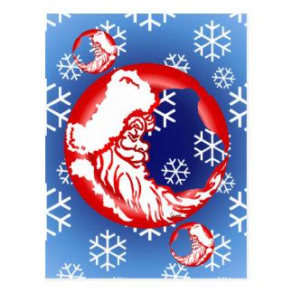 Carte postale de lune de Père Noël