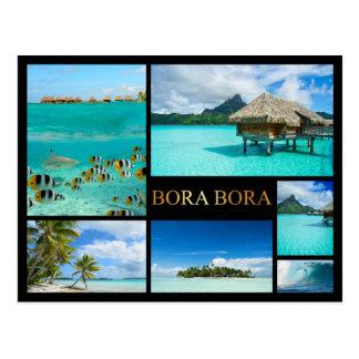 Carte postale de luxe de collage de Bora Bora