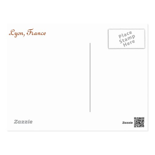 Carte postale de Lyon, France. Bicyclette, rues de