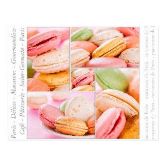 Carte postale de Macarons de Français