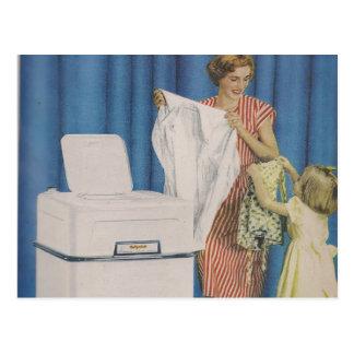 Carte postale de machine à laver