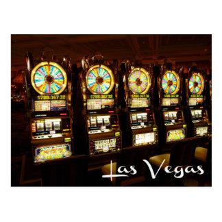 Carte postale de machines à sous de casino de Las