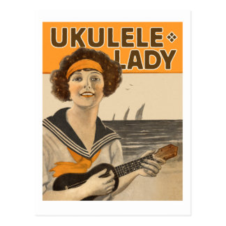 Carte postale de Madame #2 d'ukulélé