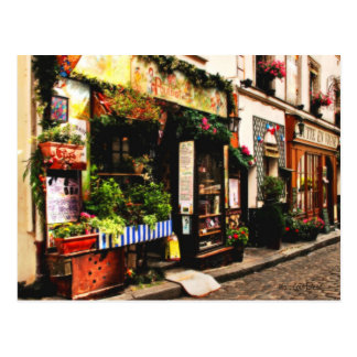 Carte postale de magasin de Français