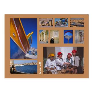 Carte postale de Malte
