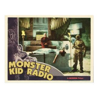 Carte postale de maman de radio d'enfant de