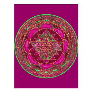 Carte postale de mandala de Sri Lakshmi Yantra