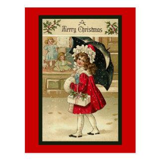 "Carte postale ""de manteau rouge de Noël"""