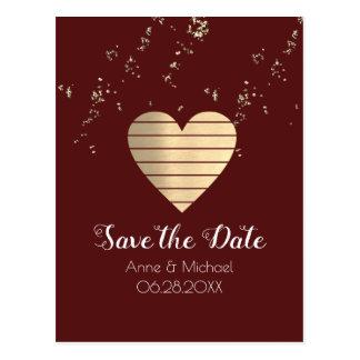 carte postale de mariage de Bourgogne avec le