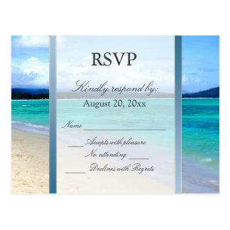 Carte postale de mariage de destination de RSVP