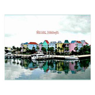 Carte postale de marina de Nassau Bahamas