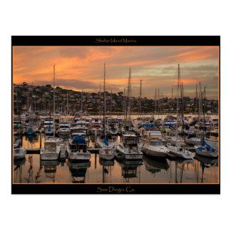Carte postale de marina de San Diego la Californie