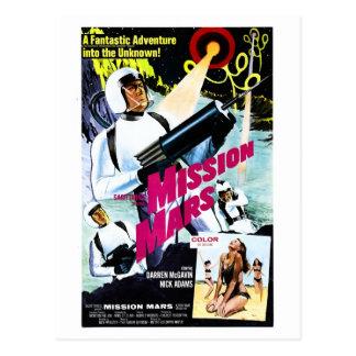 Carte postale de Mars de mission