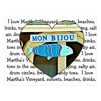 Carte postale de Martha's Vineyard de bijou de