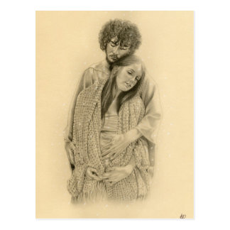 Carte postale de Mary et de Joseph