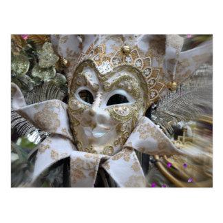 Carte postale de mascarade