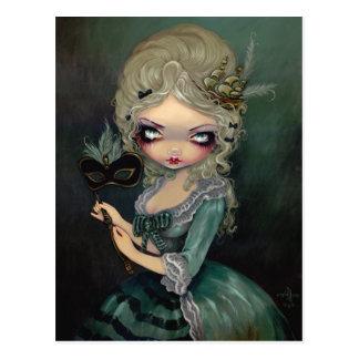 """Carte postale """"de mascarade de Marie"""""""