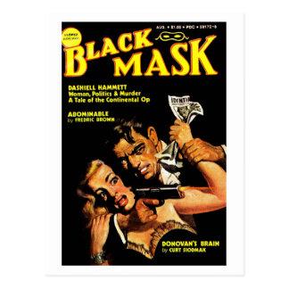 "Carte postale ""de masque noir"""