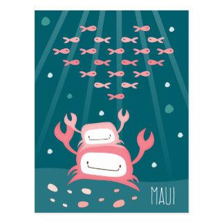 """Carte postale """"de Maui de crabe"""""""