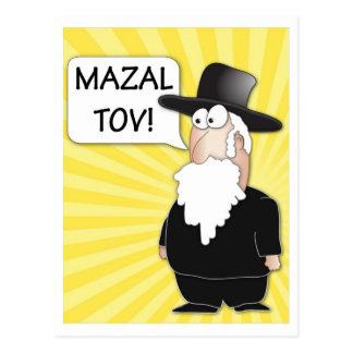 Carte postale de Mazal Tov - Rabbin juif