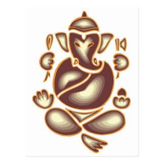 Carte postale de méditation d'éléphant de l'Inde