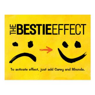 Carte postale de meilleur ami, l'effet de Bestie