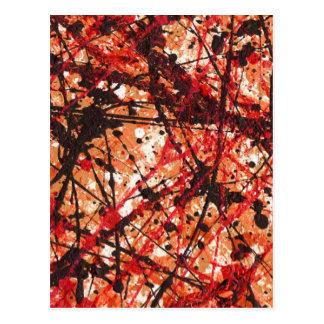 Carte Postale ~ de MÉLANGE d'AUTOMNE (conception d'art abstrait)
