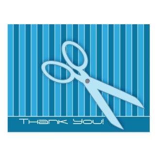 Carte postale de Merci de ciseaux