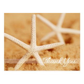 Carte postale de Merci de deux étoiles de mer