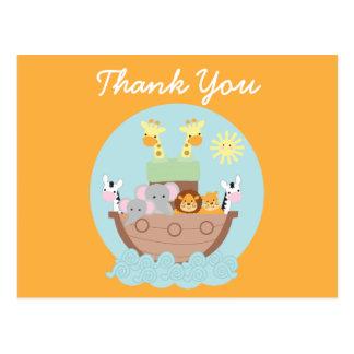 Carte postale de Merci de l'arche de Noé
