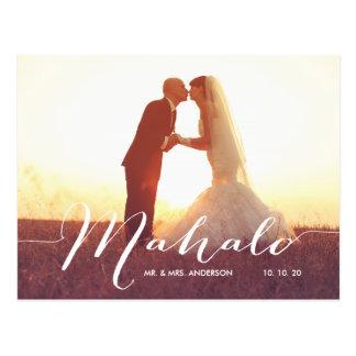 Carte postale de Merci de mariage de photo de