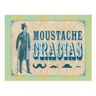 Carte postale de Merci de moustache