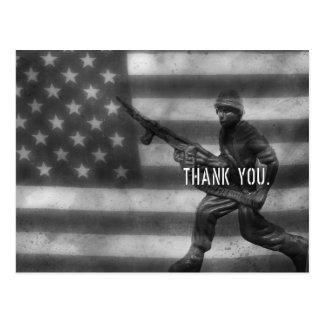 Carte postale de Merci de soldat