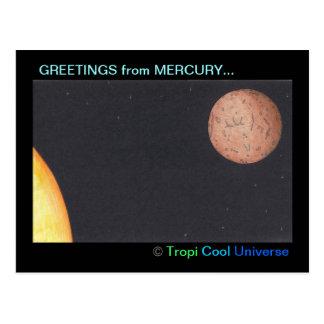 Carte postale de MERCURY de planète