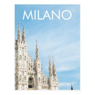 Carte postale de Milan de Di de Duomo