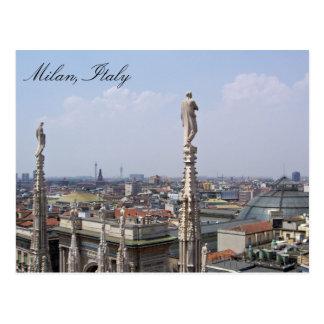 Carte postale de Milan, Italie