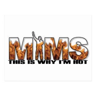 Carte postale de MIMS - c est pourquoi je suis log