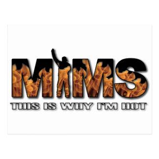 Carte postale de MIMS - c'est pourquoi je suis log
