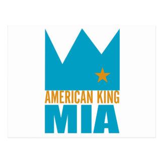 Carte postale de MIMS - roi américain de MIA
