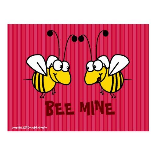 Carte postale de mine d'abeille