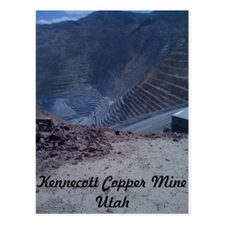 Carte postale de mine de cuivre de Kennecott