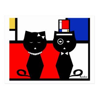 Carte postale de Mondrian