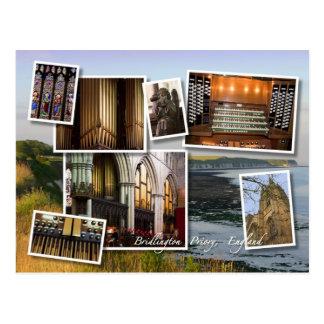 Carte postale de montage de prieuré de Bridlington
