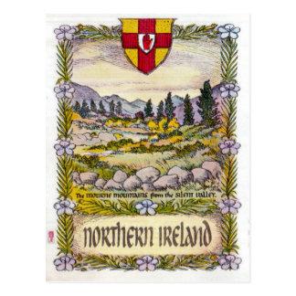 Carte postale de montagnes de l'Irlande du Nord