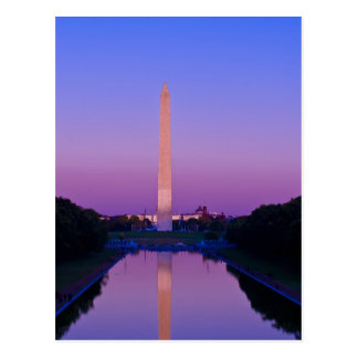 Carte postale de monument de Washington